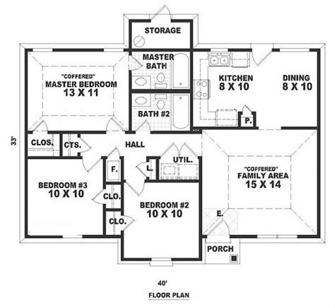 sle house designs and floor plans 33x40w first floor plan of narrow lot ranch house plan 46349 cabin floor plans pinterest