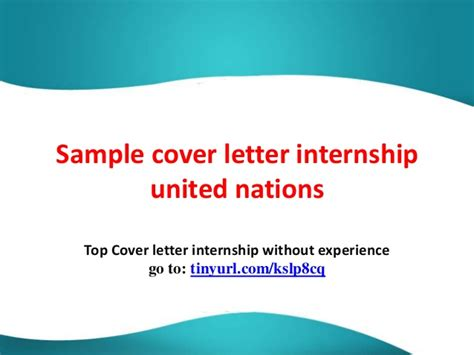 Cover Letter For Un Internship sle cover letter internship united nations