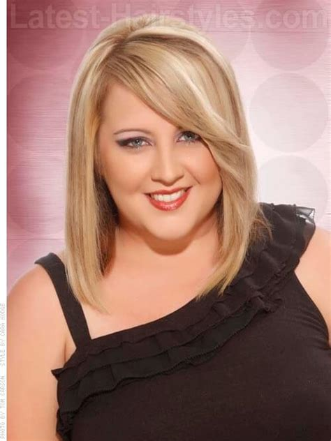 medium length plus size hairstyles flattering medium length hairstyles for round faces