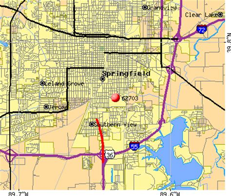 springfield il map zip codes springfield illinois map
