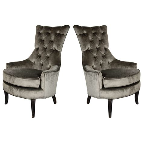 tufted high back bench ultra chic pair of mid century modern tufted high back