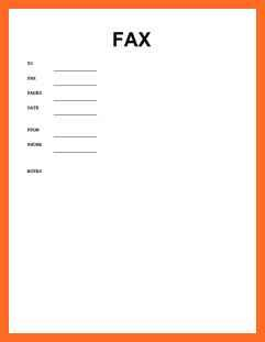 generic fax cover letter generic fax cover sheet soap format