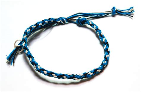 Hemp Braiding Patterns - eco friendly hemp mens bracelet kumihimo electric blue