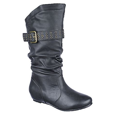 buy candies 309 womens mid calf wedged boots