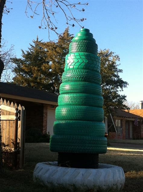 tire christmas tree abilene tx repurpose tires pinterest