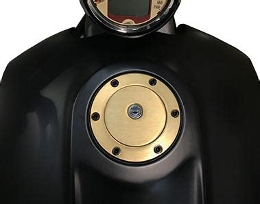 G Ci Silver Gold Cover Gold scout removable lockable gas cap satin black chrome gold
