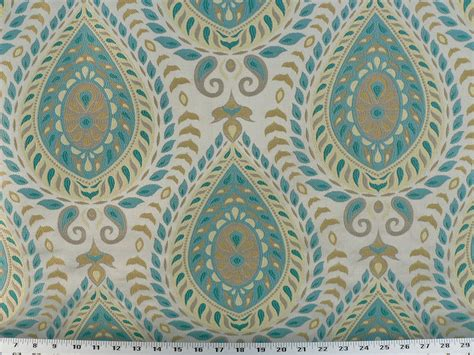 Drapery Fabrics Drapery Upholstery Fabric Jacquard Teardrop Turquoise