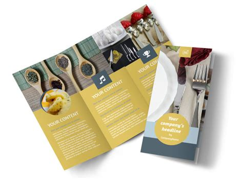dinnerware kitchen supplies brochure template