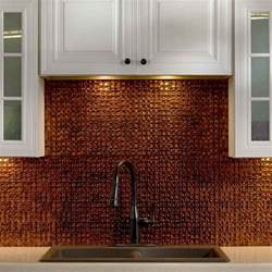 Tin Backsplashes For Kitchens kitchen amp dining metal frenzy in kitchen copper