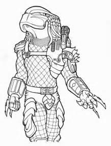 Coloring Pages Alien Vs Predator Drawings Sketch Page sketch template
