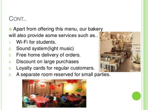home based bakery business plan