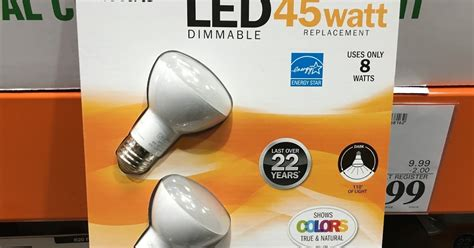 Led Light Bulbs Costco by Feit Electric R20 Flood 45 Watt Led Light Bulb 2 Pack