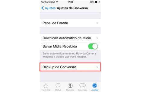 tutorial do whatsapp whatsapp veja como recuperar as conversas exclu 237 das no