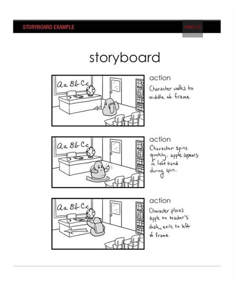 script storyboard 6 exles in word pdf