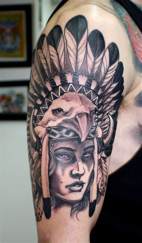 native american headdress tattoo 55 traditional american design