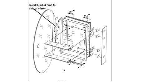 pegasus medicine cabinet replacement parts how do you install a framed oval medicine cabinet so that