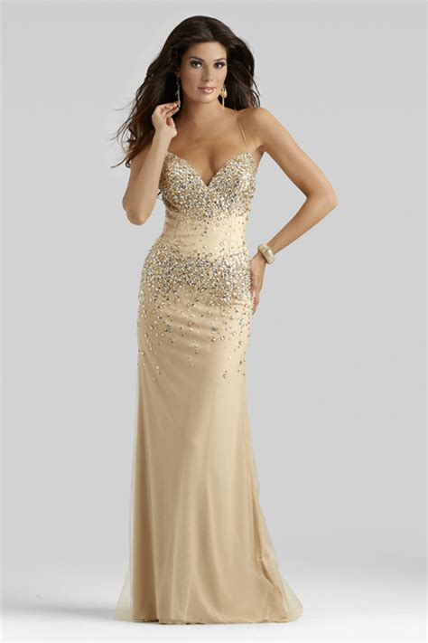 gold beaded prom dress clarisse 2014 chagne gold beaded prom dress
