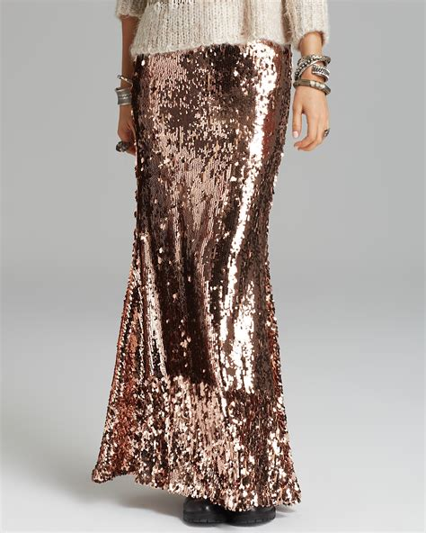 free people sequin skirt free maxi skirt sequins for bloomingdale s