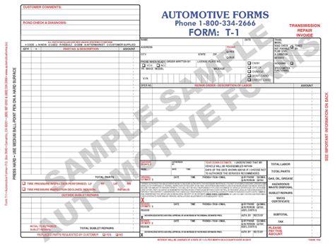 mechanics invoice template auto repair receipt rabitah net