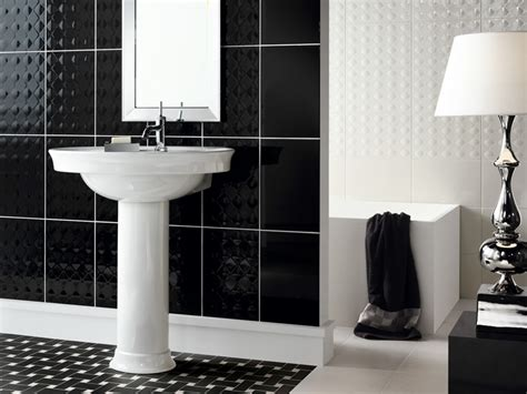 black and white tiled bathroom ideas beautiful wall tiles for black and white bathroom york by novabell digsdigs