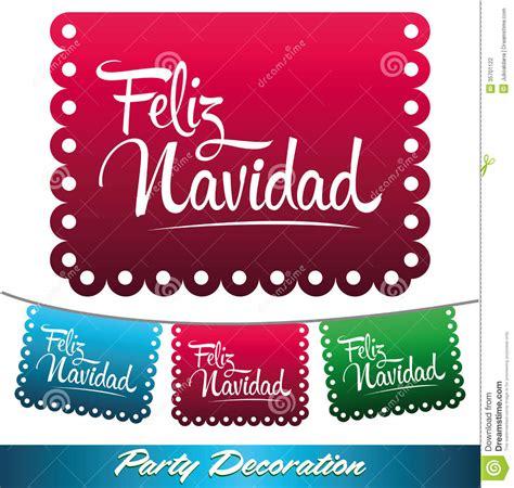 feliz navidad mexican decoration stock vector illustration  handwriting celebration