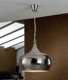 hammered steel pendant light hammered metal led pendant