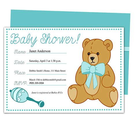 publisher templates for baby shower baby shower invitation templates word baby shower ideas