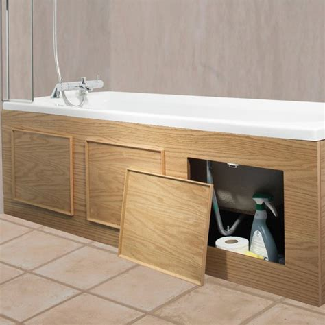 bathtub front panel croydex kingston storage front bath panel oak veneer wb685176 at victorian