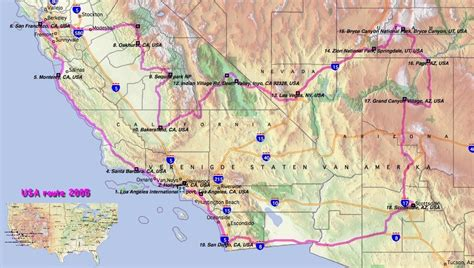 west coast map of usa route maps of west coast usa