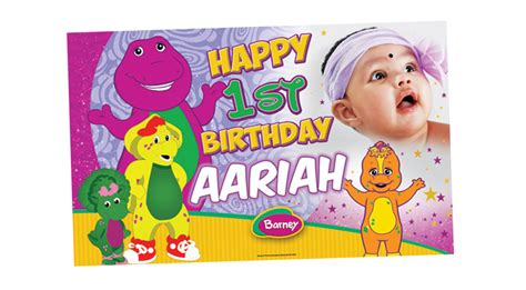 Printable Barney Birthday Banner | bannerxpert birthday and party banners gallery
