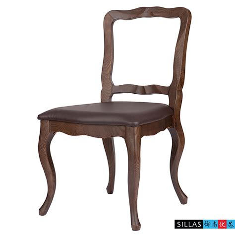 Leather Black Walnut Wood Dining Chairs European French Leather And Wood Dining Chairs