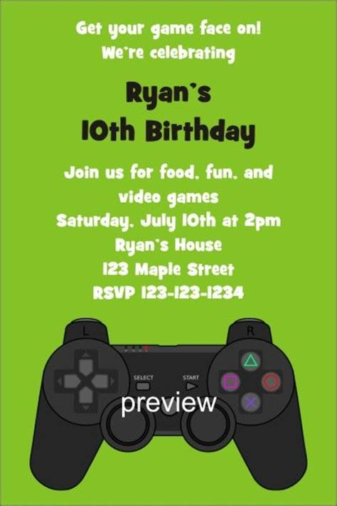 free printable xbox birthday invitations xbox slumber party invite adult playstation xbox video