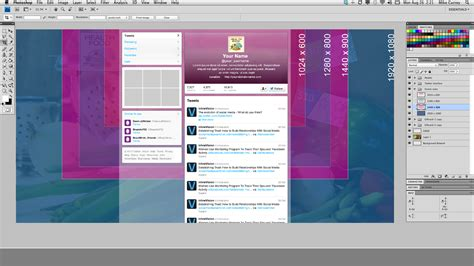 seamless twitter background and header template free