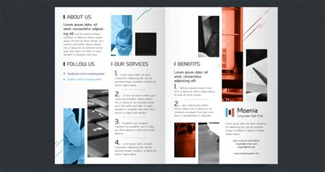 single fold brochure template csoforum info