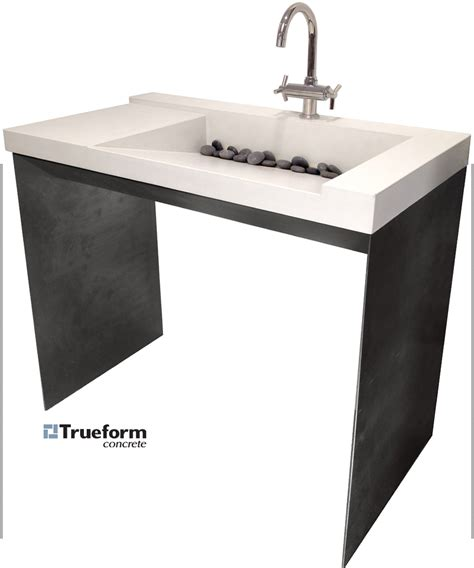 ada compliant bathroom sinks and vanities ada compliant sink concrete on a steel base could be for