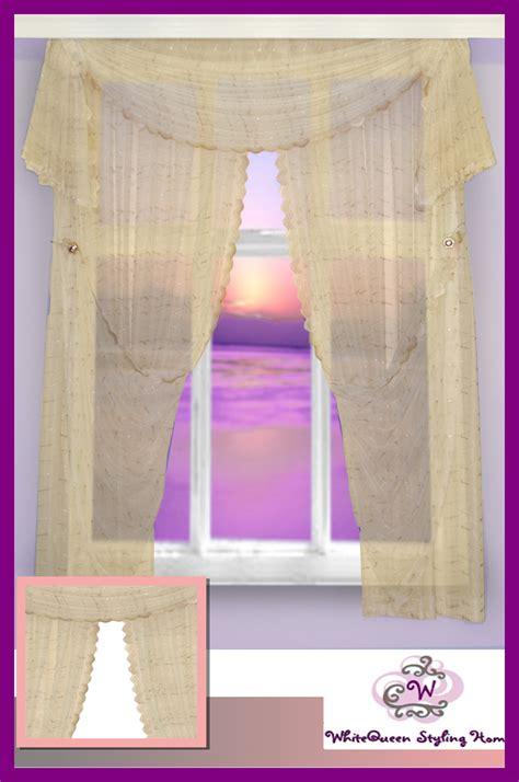 gardinen querbehang mit osen gardinen set querbehang stickerei spitze 250x220 ebay