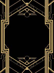 Art Deco Templates Free Great Gatsby Invitation Templates Blank