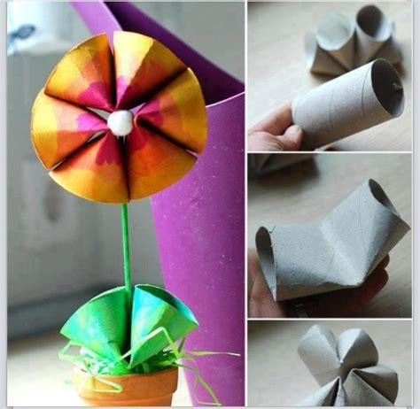 Recycled Toilet Paper Roll Crafts - preschool crafts for s day recycled toilet