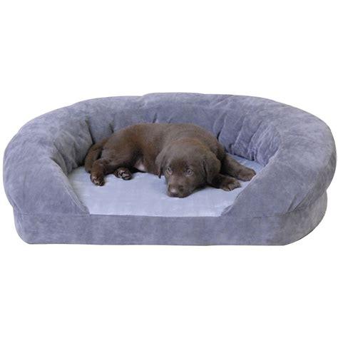 k h dog beds k h orthopedic bolster sleeper dog bed in gray petco