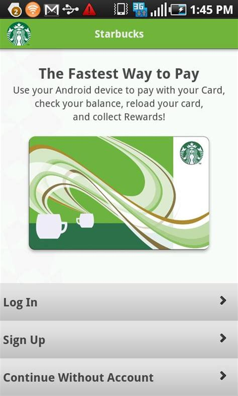 starbucks mobile app for android starbucks launches android app for mobile payment