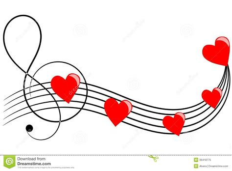 imagenes de corazones musicales hearts on musical staves stock vector image of hearts