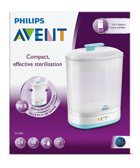 Philips Avent Electric Steam Sterilizer 2 In 1 Essential T1310 philips avent 2 in 1 electric steam steriliser