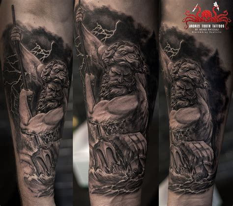 poseidon tattoo meaning neptun by mehdi rasouli broken tooth tattoos
