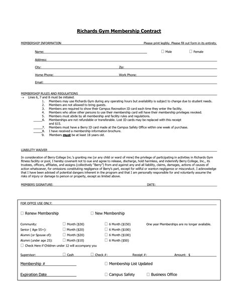 membership agreement template 10 best images of membership agreement template sle