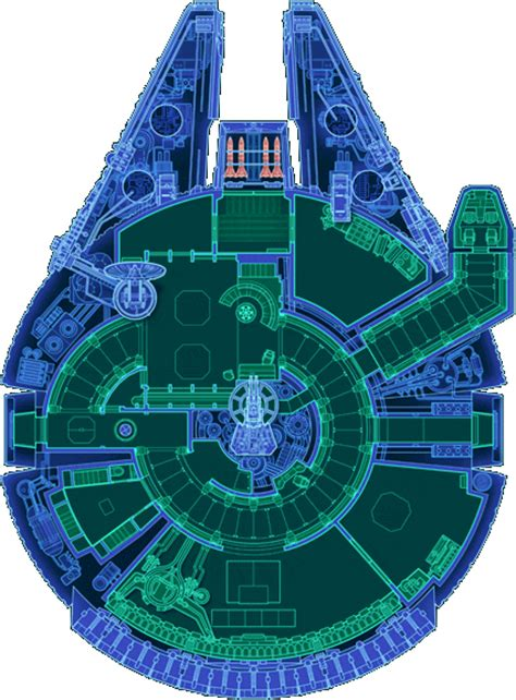 millenium falcon floor plan portfolio star wars blueprints