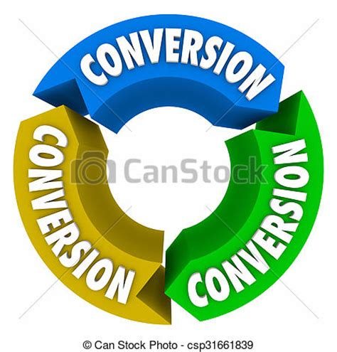 Image To Clipart Converter drawings of conversion 3 arrows cycle sales process conversion word on csp31661839 search
