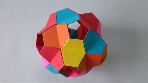Folded Paper Toys - origami toys how to make an origami kusudama