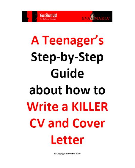 cover letter step by step cv writing for e book
