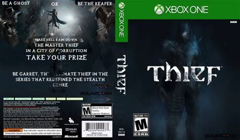 printable xbox one game covers thief xbox one box art cover by theif