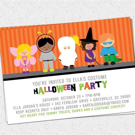printable childrens halloween party invitations printable halloween invitation birthday party costume kids
